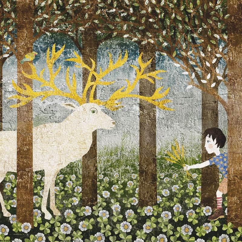 Tapet copii Il cervo e il bambino | TECNOGRAFICA