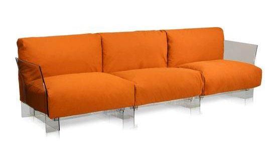 Canapea Pop - baza transparenta (3 locuri)| KARTELL