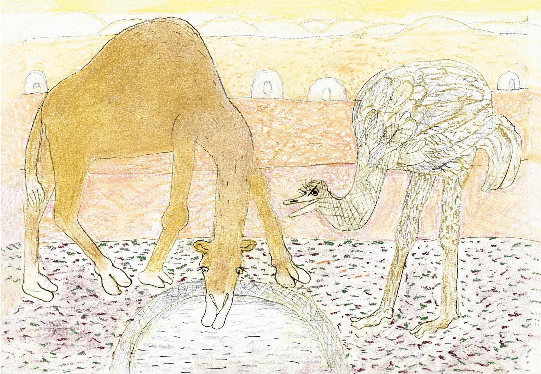 Tablou The Camel and The Ostrich | MAGIS
