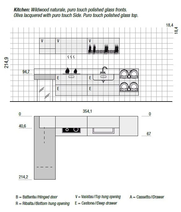 Bucatarie 36e8 Wildwood model 2 | LAGO